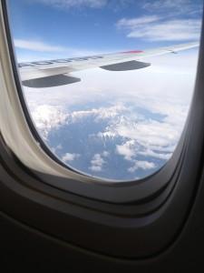 飛行機の中から