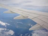 旭川空港へ向かう空から(北海道が見えてきました)