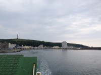 フェリーから見る稚内港