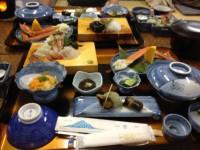 海の幸満載の夕食