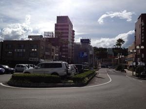 延岡駅のロータリー