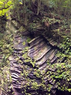 柱状節理でできた断崖「仙人の屏風岩」