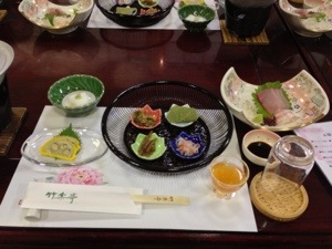 竹楽亭の食事