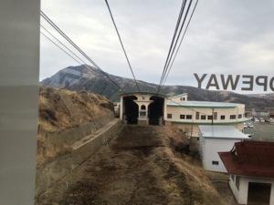 阿蘇山ロープウェイの中から撮影