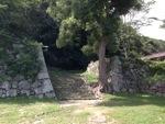 米子城の入口付近の城壁