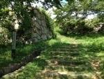 米子城の入口付近