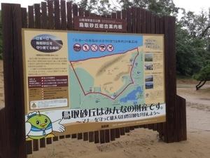 鳥取砂丘の案内板