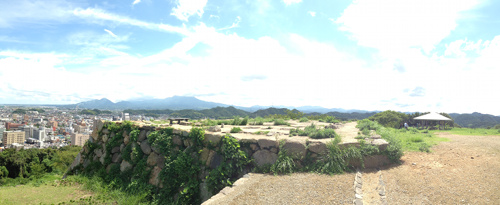 湊山公園の山頂からのパノラマ