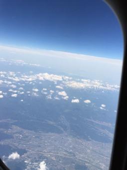 空から月山が見えた