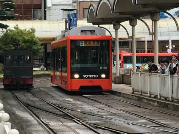 松山空港から松山市駅へ